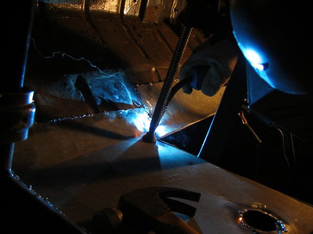 welding in the footplates