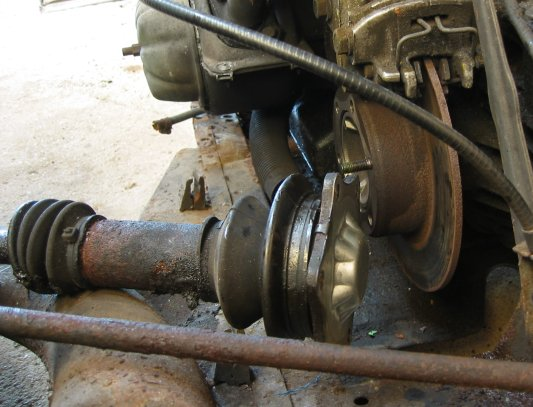 drive shaft undone