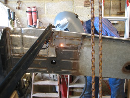 welding into place