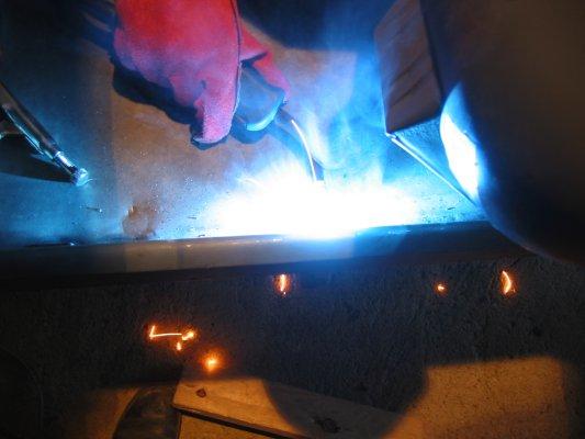 welding it in
