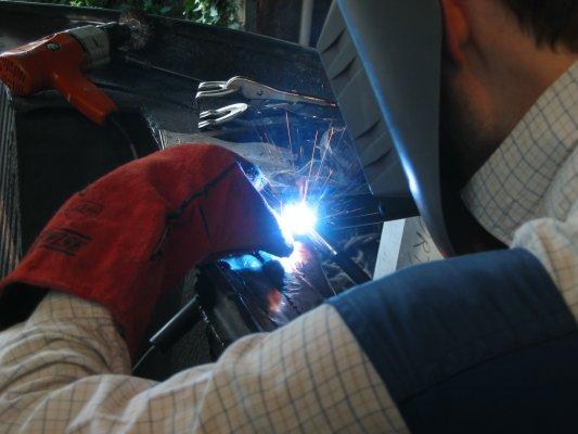 welding a new pillar