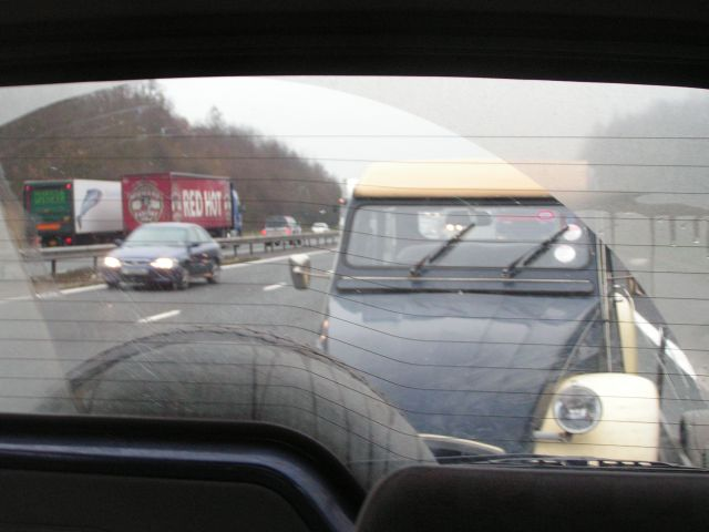 Towing along the M4